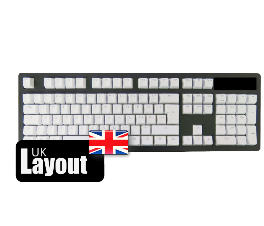 Tai-Hao PBT Backlit Double Shot Keycaps Pure White UK